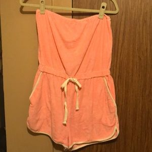 Strapless Beach Coverup Romper